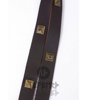 Cintura medievali cuoio ornato