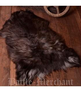 Pelle di pecora nordic screziato naturale, 110 cm.