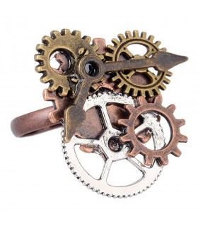 Anello regolabile SteamPunk ingranaggi dell'orologio