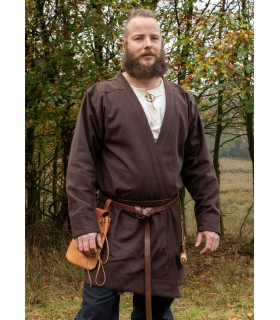 Tunica Viking Klappenrock Bjorn marrone