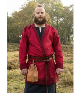 Tunica Viking Klappenrock Bjorn in rosso
