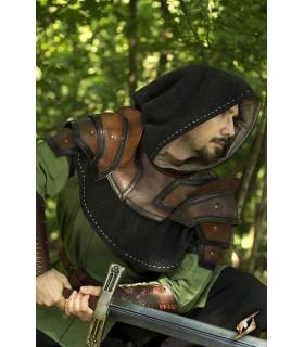 Gorjal medievale bicolore in pelle