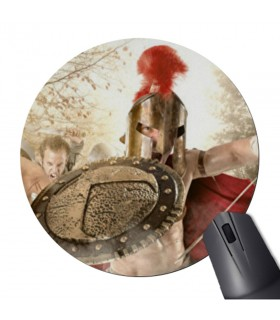 Tappetino per Mouse Mouse Rotondo lotta Spartani