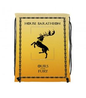 Zaino stringhe di Casa Baratheon, da Game of Thrones (cm 34x42.)