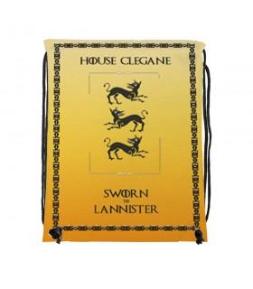 Zaino stringhe Casa Clegane di Game of Thrones (cm 34x42.)