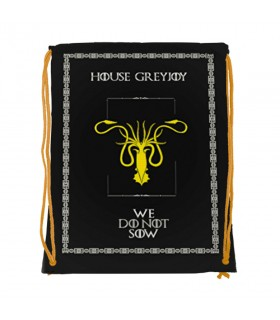 Zaino stringhe di Casa GreyJoy di Game of Thrones (cm 34x42.)