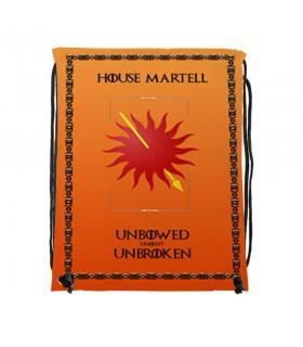 Zaino stringhe di Casa Martell Game of Thrones (cm 34x42.)