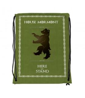 Zaino stringhe Casa Mormont di Game of Thrones (cm 34x42.)