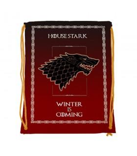 Zaino stringhe di Casa Stark di Game of Thrones (cm 34x42.)