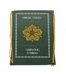 Zaino stringhe di Casa Tyrell di Game of Thrones (cm 34x42.)