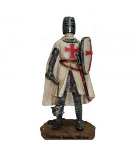 Miniatura cavaliere Templare con mazza e scudo