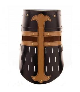 Grande Timone Crociati, in pelle nera