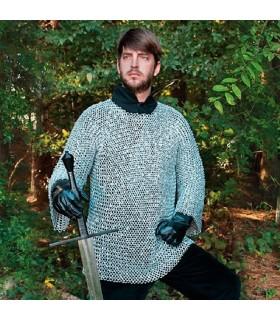 Cotta di maglia medievale in alluminio