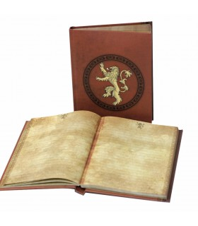 Libro con la luce di casa Lannister, da Game of Thrones