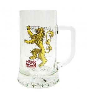 Boccale di birra in vetro ascoltatemi Ruggito Lannister Game of Thrones
