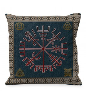 Cuscino simbolo celtico Vegvisir