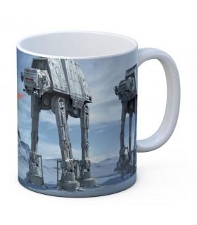 Tazza di ceramica bianca Battaglia di Hoth da Star Wars