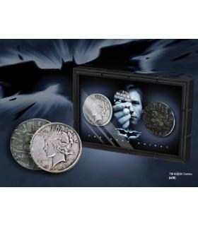 set di 2 monete, Harvey Dent, Batman: due volti, con espositore
