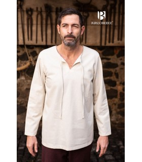 Camicia medievale legami Ulrich, crema