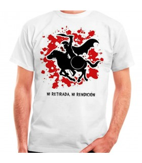 T-shirt bianca Spartan Cavallo: né rifugio, né arrendersi