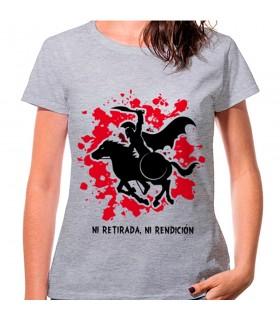 T-shirt donna Spartana Cavallo Grigio: né rifugio, né arrendersi