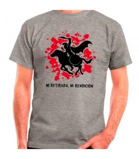 T-shirt Grigio Spartan Cavallo: né rifugio, né arrendersi
