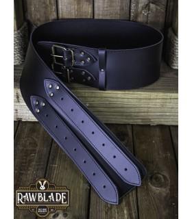 Cintura medievale larghezza Lombardo, nero