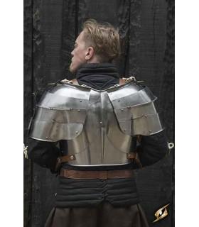 Spalline medievale Milanese, in acciaio lucido