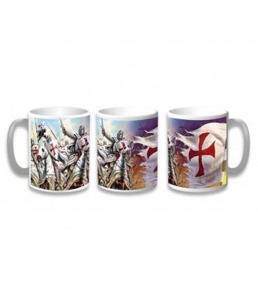 Tazza In Ceramica Guerrieri Templari