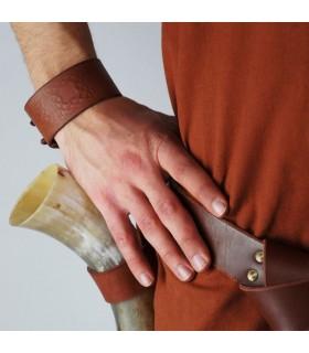 Bracciale Nodi Celtici in Pelle, regolabile (1 unità)