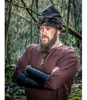 Bracciali Celtici pelle Vegvisir nero