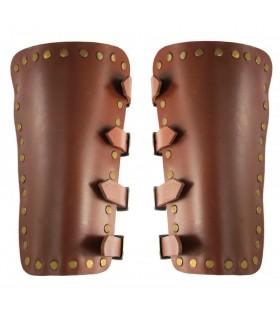 Bracciali, Medievale Mare, in pelle marrone