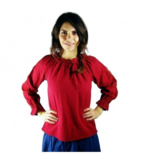 Blusa medievale donna Bettina, rosso