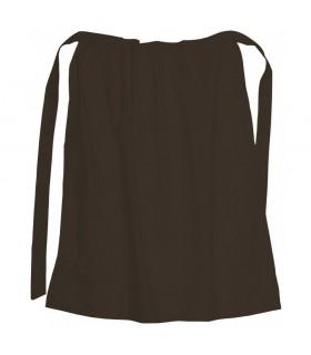 Grembiule medievale di cotone, di colore marrone scuro