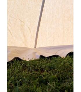 Tenda medievale Herold di 4 x 4 m. cotone bianco naturale