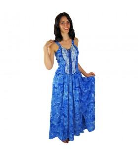 Abito medievale elegante Gelsomino, blu
