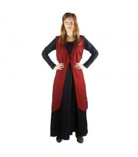 Sobrevesta modello medievale Brisella, colore rosso