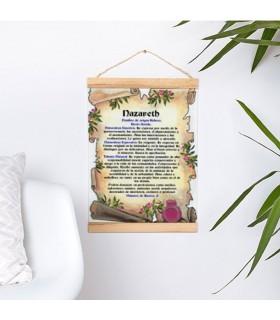 Banner con struttura in legno Personalizzata con il tuo Nome (30x45 cm)