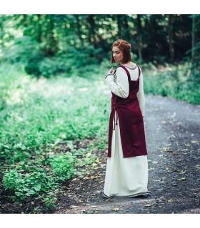 Grembiule medievale viking Aila, colore rosso