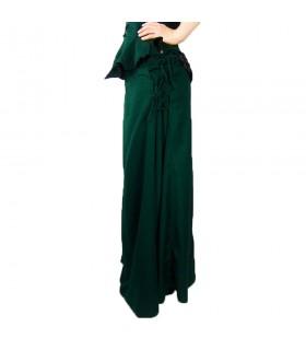 Gonna modello medievale, Noita, colore verde