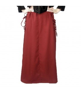 Gonna modello medievale, Noita, colore rosso