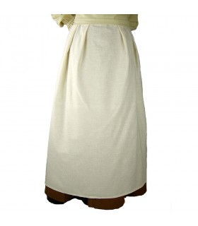 Grembiule modello medievale Lola, naturale, bianco