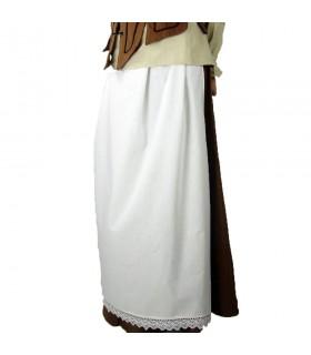 Grembiule modello medievale-Jade, colore-bianco