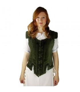 Giubbotto modello medievale Adrienne, verde