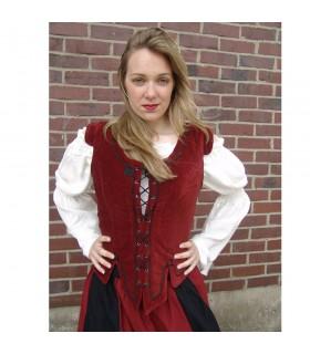 Giubbotto modello medievale Adrienne, rosso