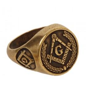 Anello di massoneria, di colore bronzo