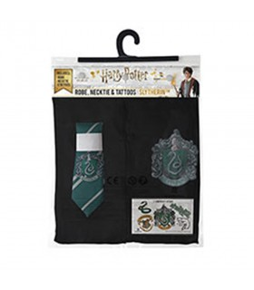 Pack Slytherin composto da una tunica, cravatta, e i tatuaggi di Harry Potter