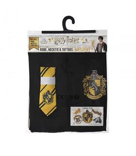 Pack Hufflepuff composto da una tunica, cravatta, e i tatuaggi di Harry Potter