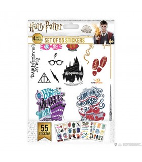 Set di 55 adesivi di Harry Potter