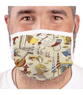 Maschera Medievale Riutilizzabile-Rated (per adulti)